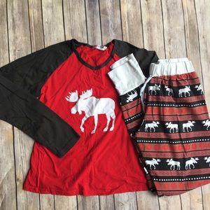 Other - Women's Christmas moose pajama set